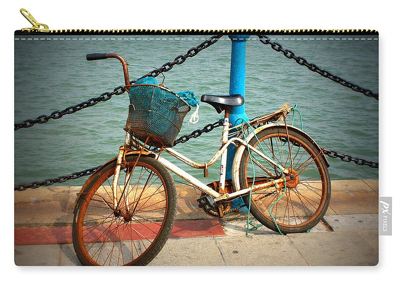Stories Carry-all Pouch featuring the photograph The Bicycle by Carol Groenen