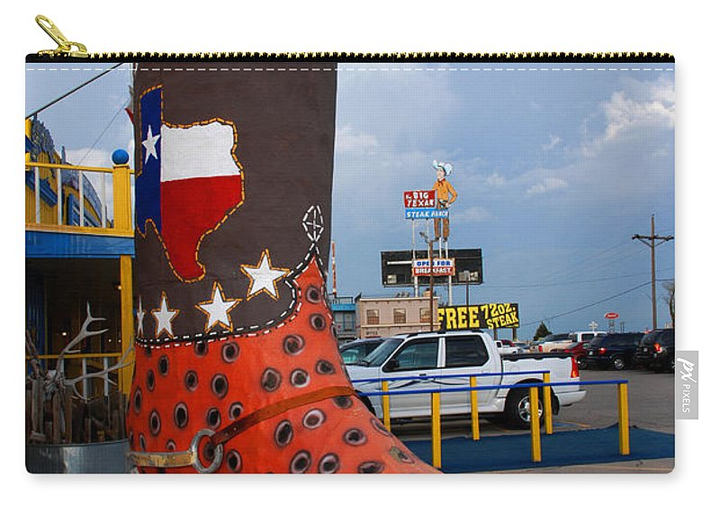Big Boot Carry-all Pouch featuring the photograph The Big Boot by Susanne Van Hulst