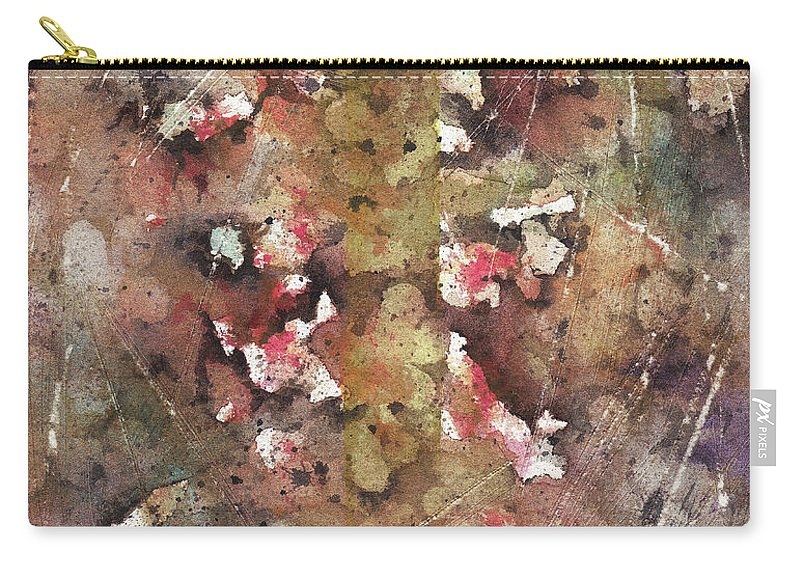 Bicycle Carry-all Pouch featuring the painting The Bike Path by Rachel Christine Nowicki