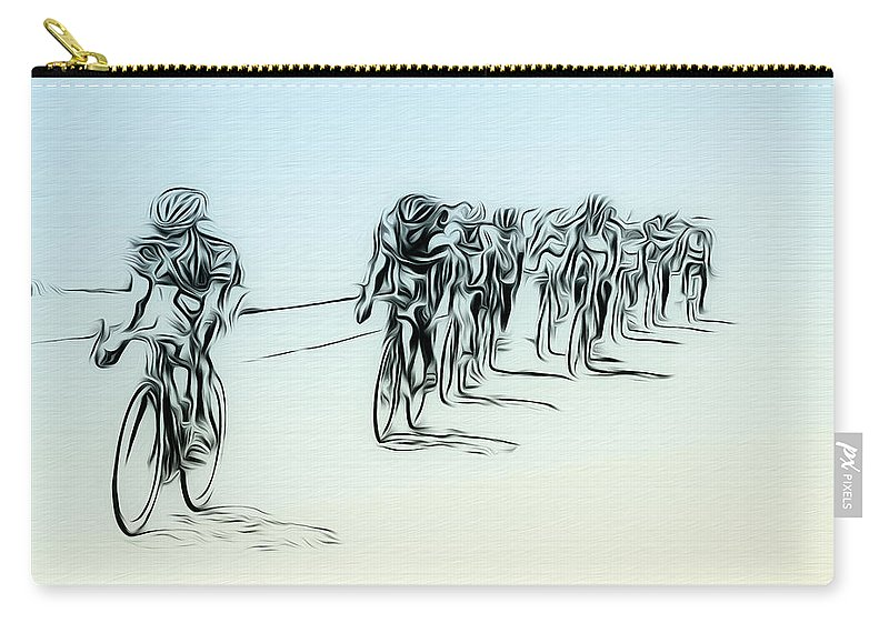 Manayunk Carry-all Pouch featuring the photograph The Bike Race by Bill Cannon