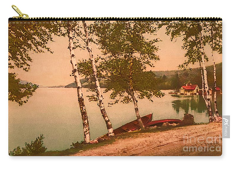 Vintage Carry-all Pouch featuring the photograph The Birches At Oak Birch Inn, Alton Bay, Lake Winnipesaukee, N. H. by Mim White