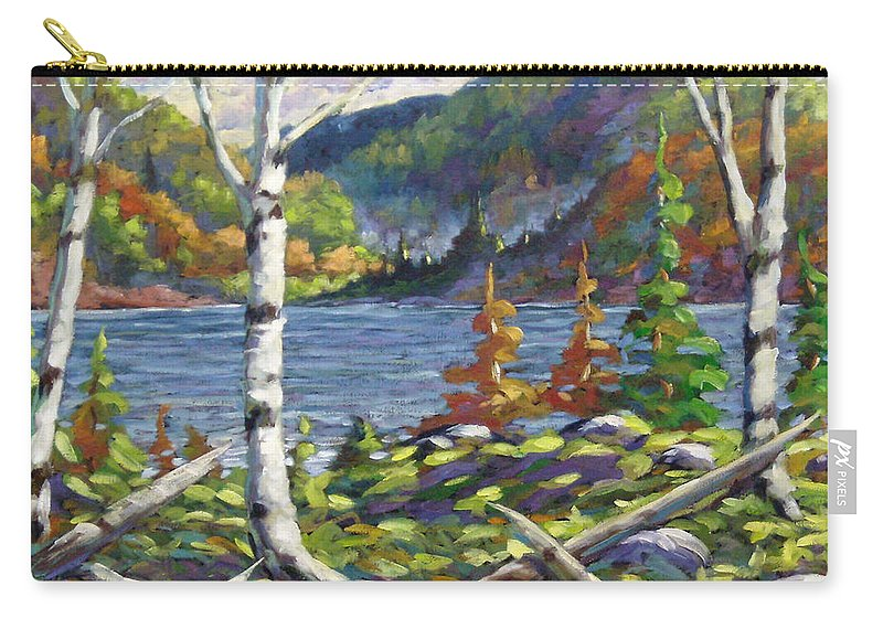 Art Carry-all Pouch featuring the painting The Birches by Richard T Pranke