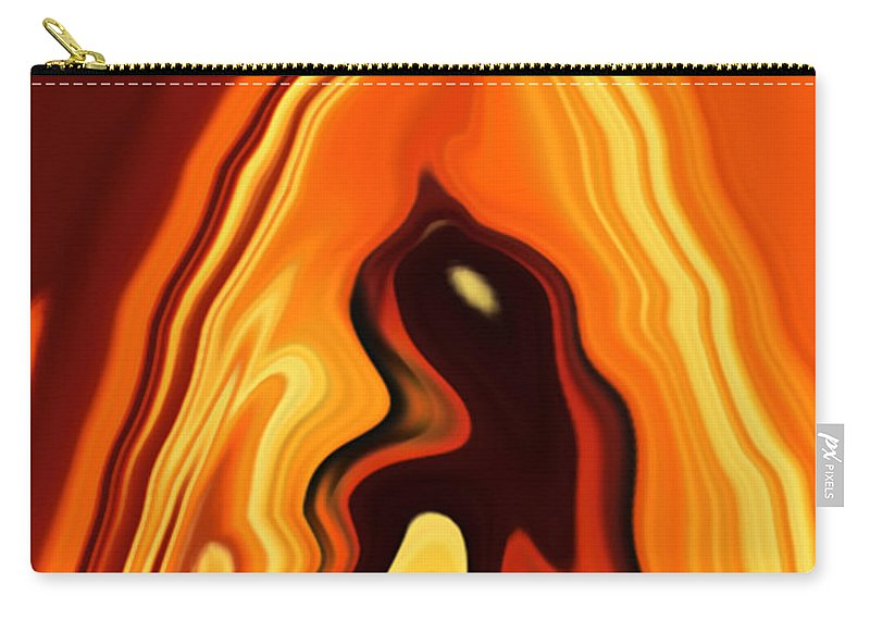 Art Carry-all Pouch featuring the digital art The Bird In The Case by Rabi Khan