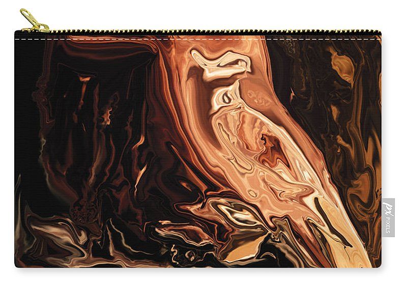Art Carry-all Pouch featuring the digital art The Bird Unknown 2 by Rabi Khan