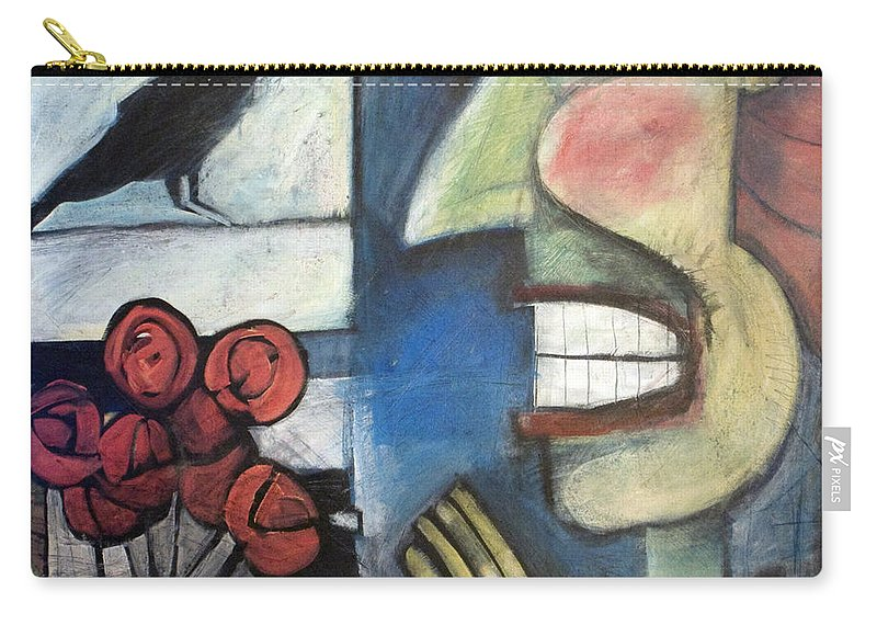 Bird Carry-all Pouch featuring the painting The Bird Watcher by Tim Nyberg