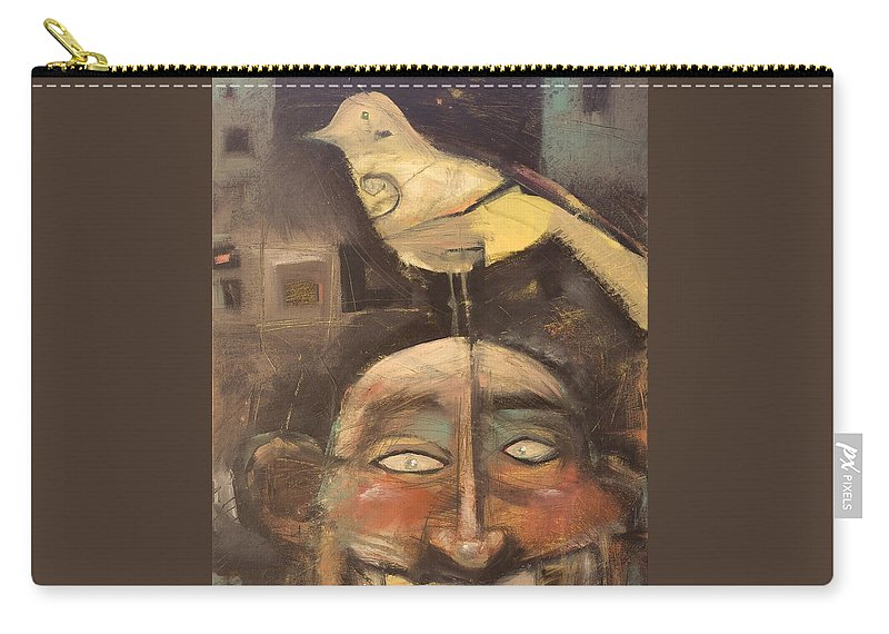Bird Carry-all Pouch featuring the painting The Birdman Of Alcatraz by Tim Nyberg