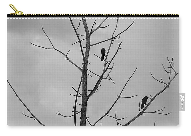 Tree Carry-all Pouch featuring the photograph The Birds by Rob Hans