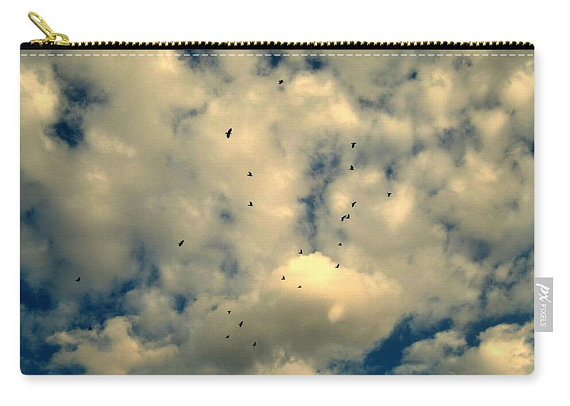 The Birds Carry-all Pouch featuring the photograph The Birds by Susanne Van Hulst