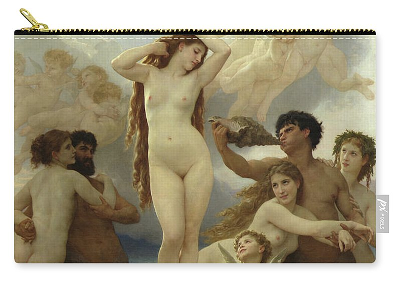 The Carry-all Pouch featuring the painting The Birth of Venus by William-Adolphe Bouguereau