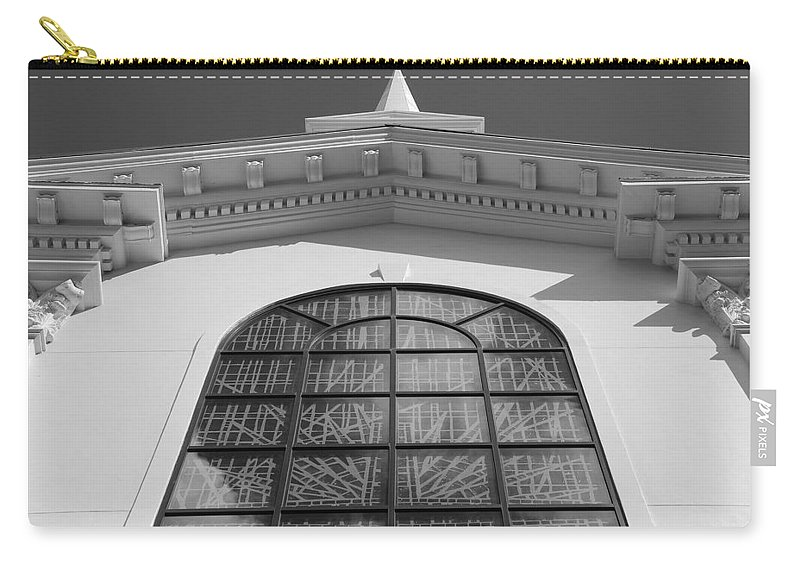 Church Carry-all Pouch featuring the photograph The Black And White Church by Rob Hans