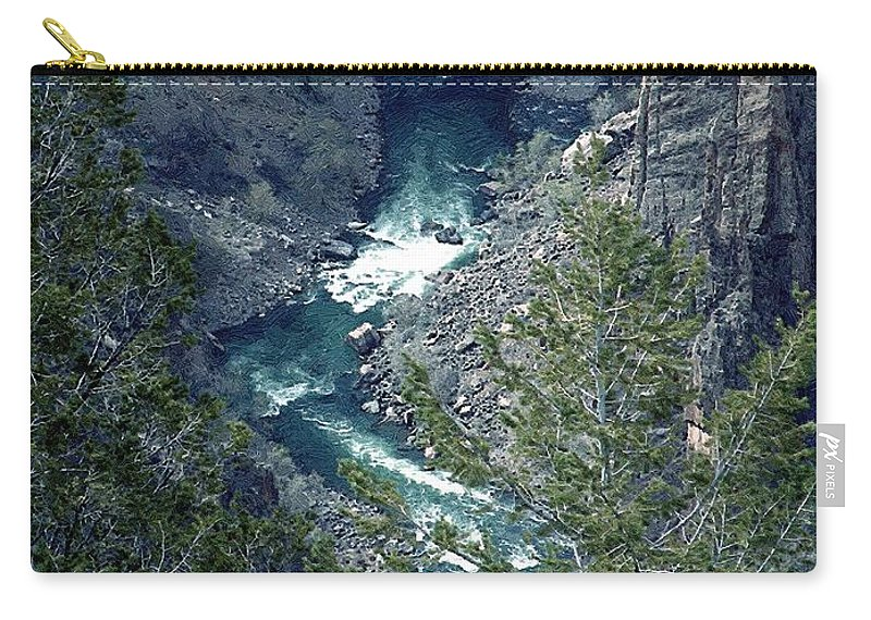 Canyon Carry-all Pouch featuring the painting The Black Canyon Of The Gunnison by RC DeWinter