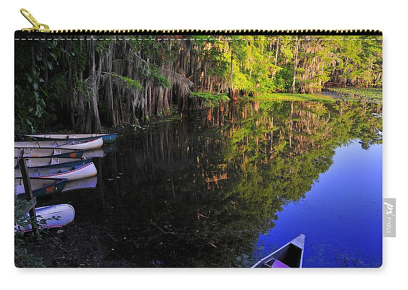 Skip Hunt Carry-all Pouch featuring the photograph The Black Lagoon by Skip Hunt