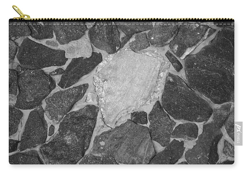 Black And White Carry-all Pouch featuring the photograph The Black Wall by Rob Hans