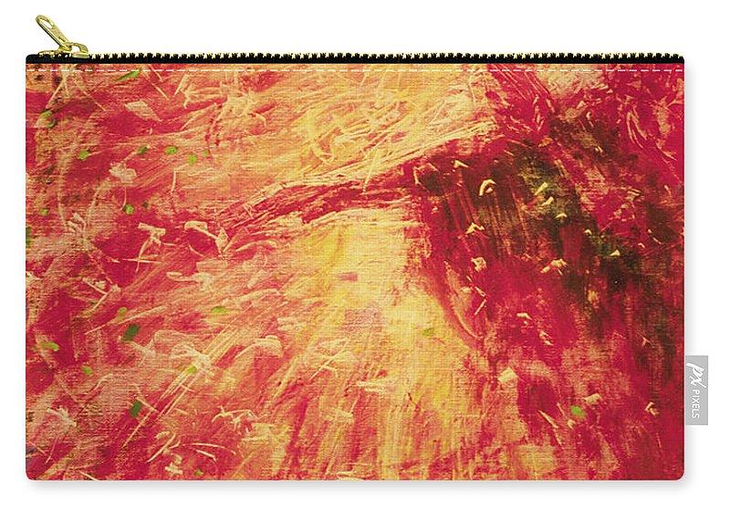 The Blind Beggar Carry-all Pouch featuring the painting The Blind Beggar - Bgblb by Fr Bob Gilroy SJ