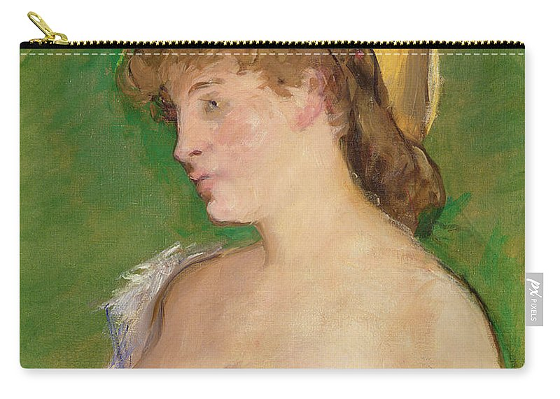 The Carry-all Pouch featuring the painting The Blonde With Bare Breasts by Edouard Manet