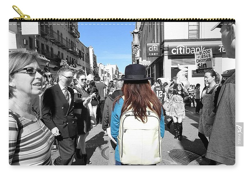 Girl Carry-all Pouch featuring the photograph The Blood by Michael Brown