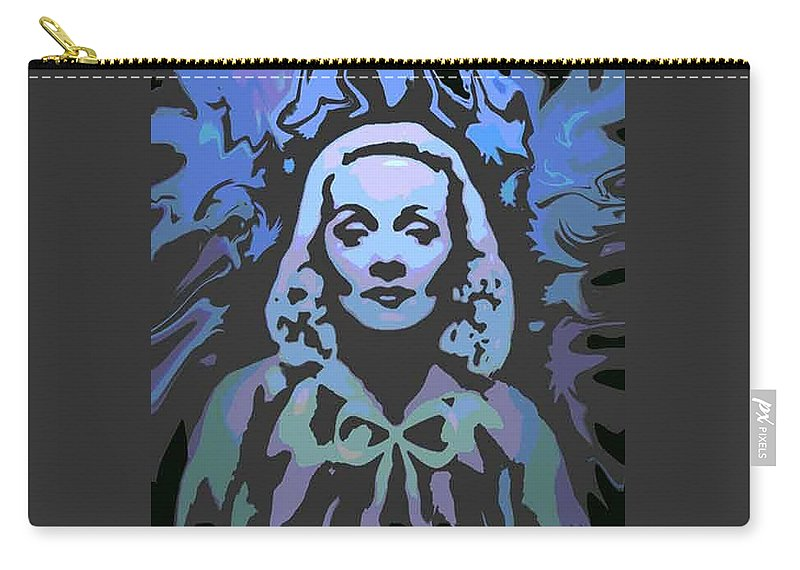 Digital Painting Carry-all Pouch featuring the digital art The Blue Angel by Ansgard Thomson