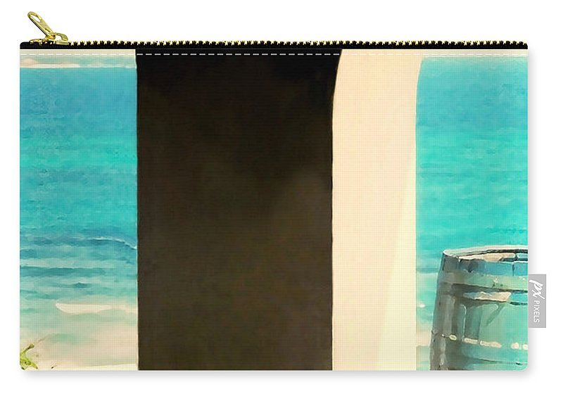 Landscape Carry-all Pouch featuring the photograph The Blue Barrel by Diana Angstadt