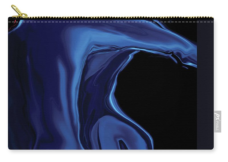 Abstract Carry-all Pouch featuring the digital art The Blue Kiss by Rabi Khan
