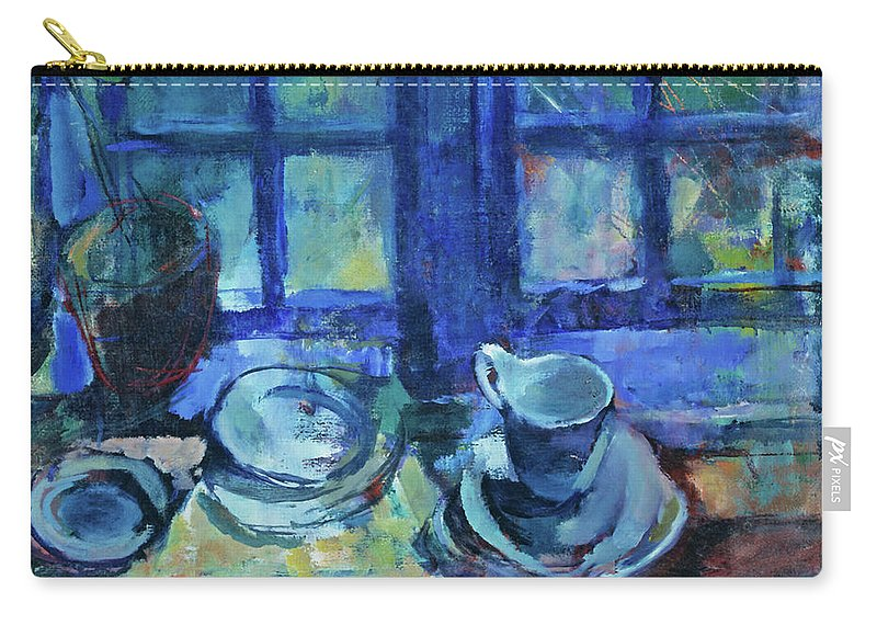 Blue Carry-all Pouch featuring the painting The Blue Kitchen by Ludvig Karsten