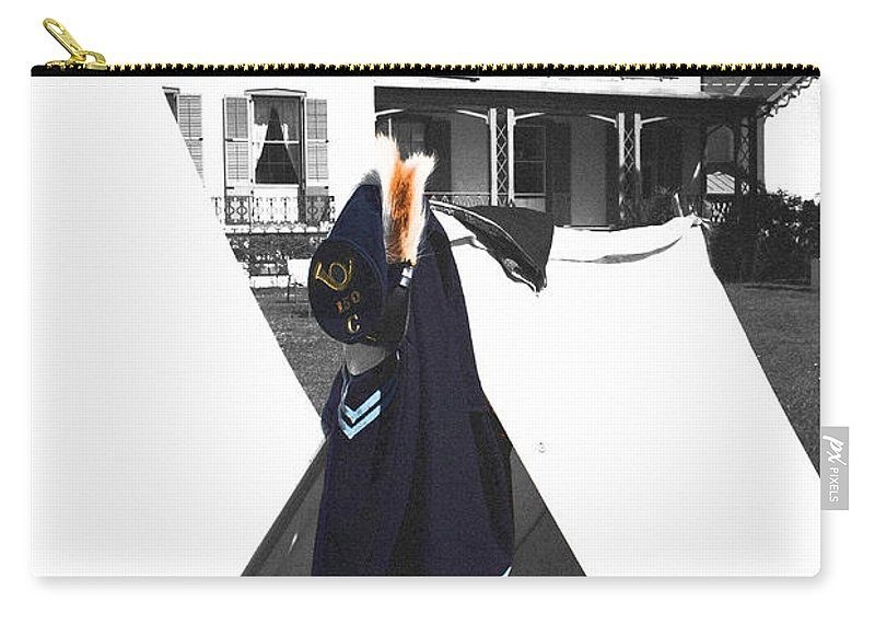 Lincoln Carry-all Pouch featuring the photograph The Blue Of War At The Cottage by Jost Houk