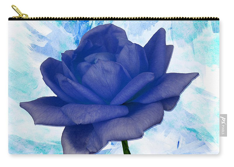 Rose Carry-all Pouch featuring the photograph The Blue Rose by Ericamaxine Price