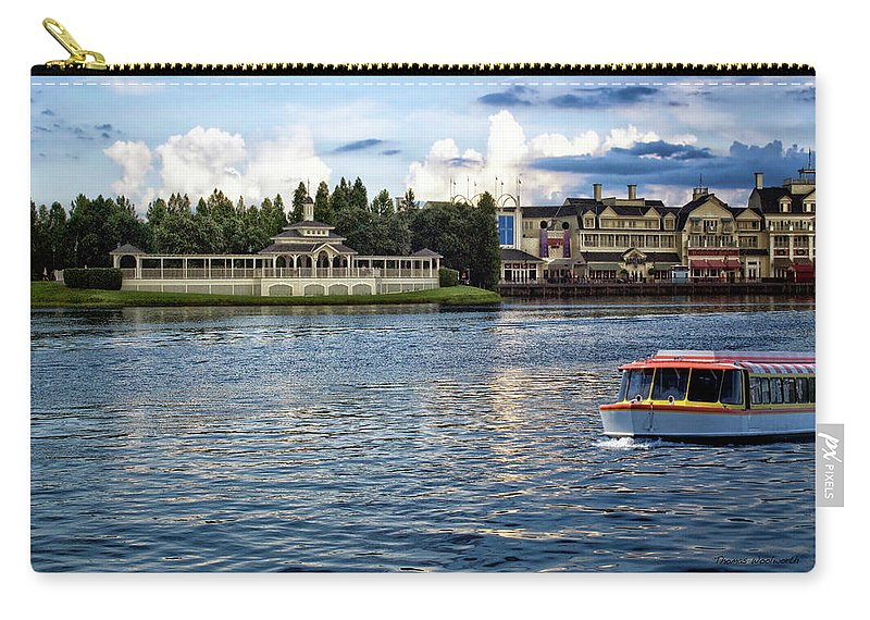 Boardwalk Carry-all Pouch featuring the photograph The Boardwalk Gazebo Walt Disney World MP by Thomas Woolworth