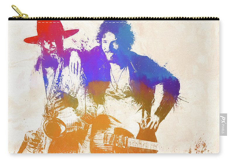 Bruce And The Big Man Carry-all Pouch featuring the painting The Boss And The Big Man by Dan Sproul