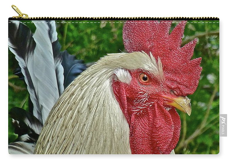 Roosters Carry-all Pouch featuring the photograph The Boss by Diana Hatcher