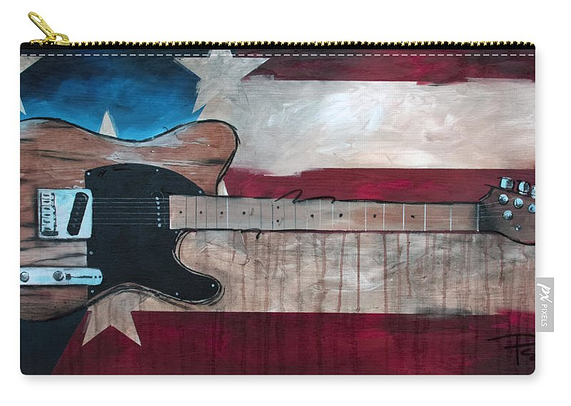 Bruce Springsteen Carry-all Pouch featuring the painting The Boss by Sean Parnell