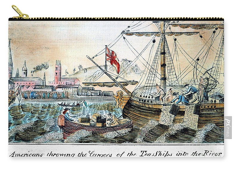 1773 Carry-all Pouch featuring the photograph The Boston Tea Party, 1773 by Granger