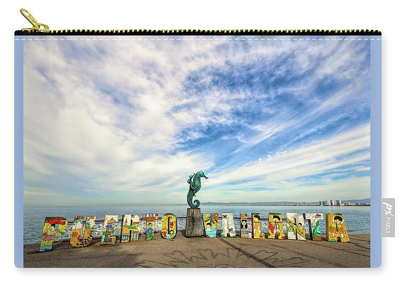 Art Carry-all Pouch featuring the photograph The Boy On The Seahorse by Paul LeSage