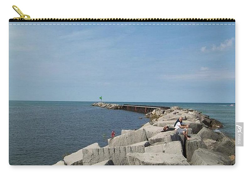 Tmad Carry-all Pouch featuring the photograph The Break by Michael TMAD Finney