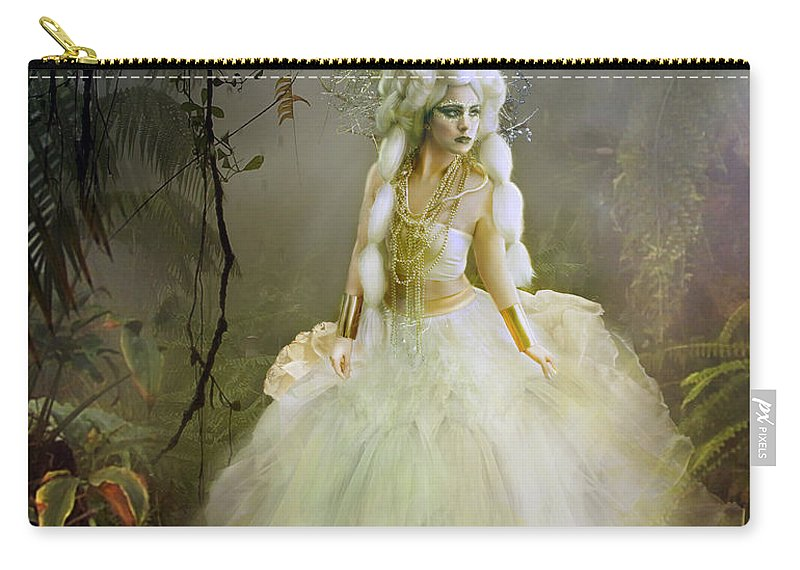 Nature Carry-all Pouch featuring the digital art The Bride by Karen Koski