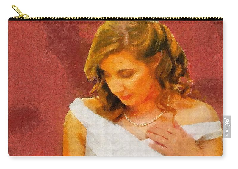 Wedding Carry-all Pouch featuring the painting The Bride To Be by Jeffrey Kolker