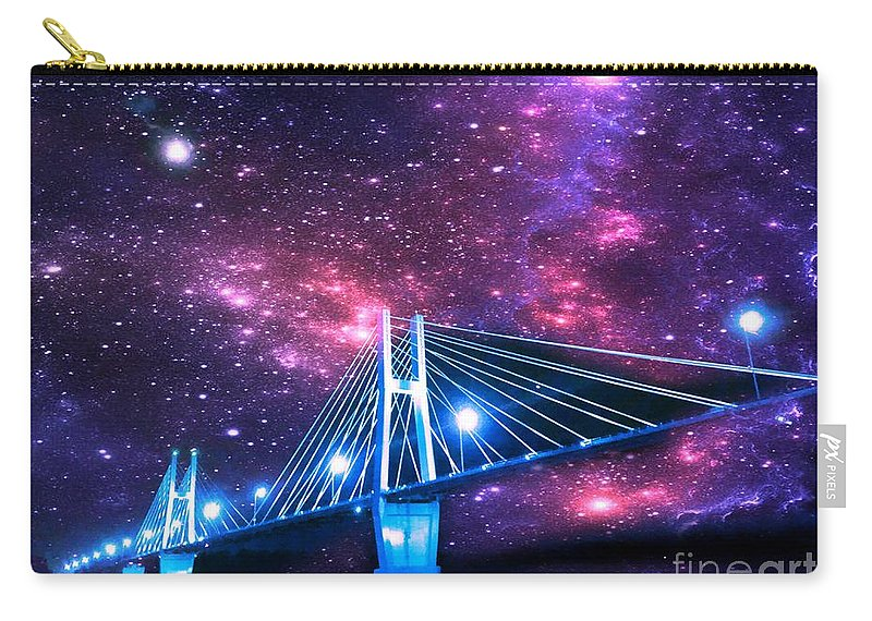 Justin Moore Carry-all Pouch featuring the photograph The Bridge Between Two Worlds by Justin Moore
