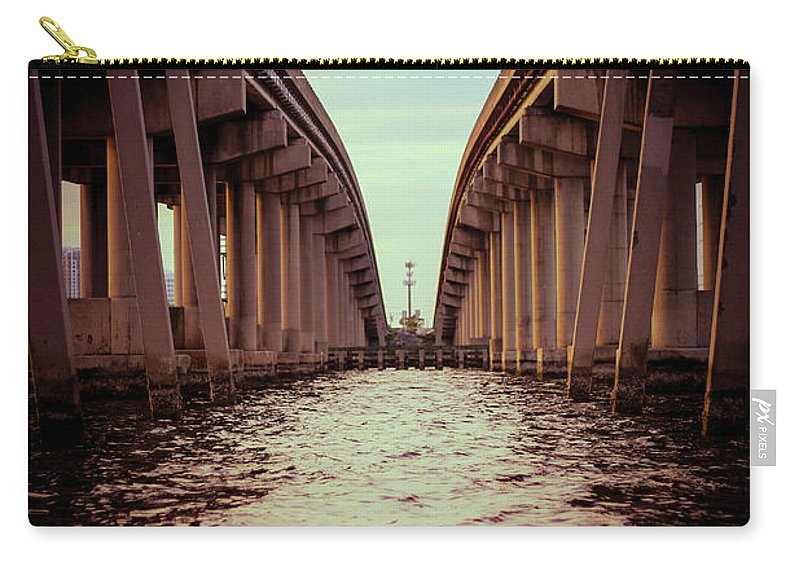 Photography Carry-all Pouch featuring the photograph The Bridge by Gaddeline Figueroa