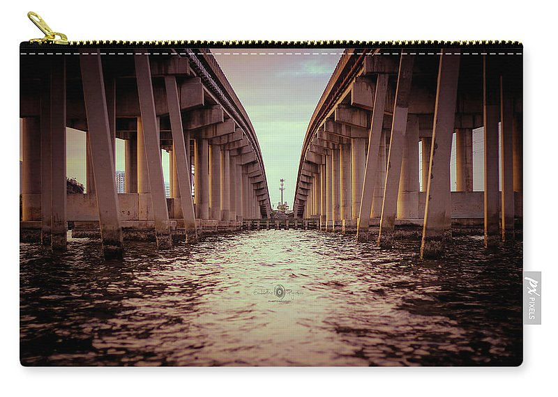 Photography Carry-all Pouch featuring the photograph The Bridge II by Gaddeline Figueroa
