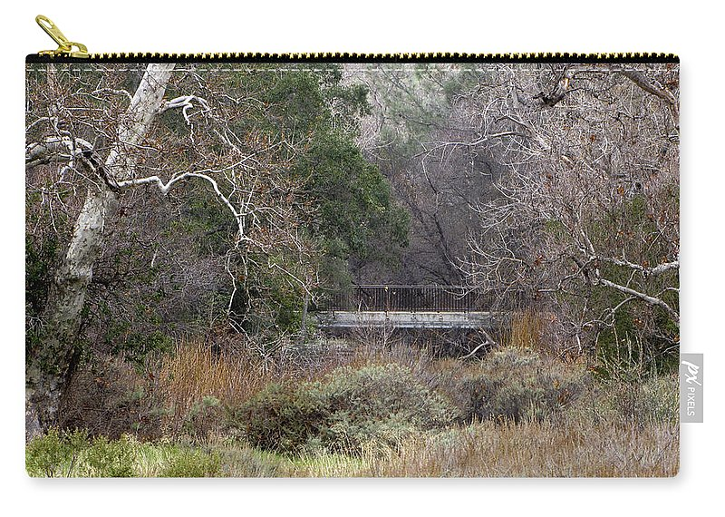 Landscape Carry-all Pouch featuring the photograph The Bridge by Karen W Meyer