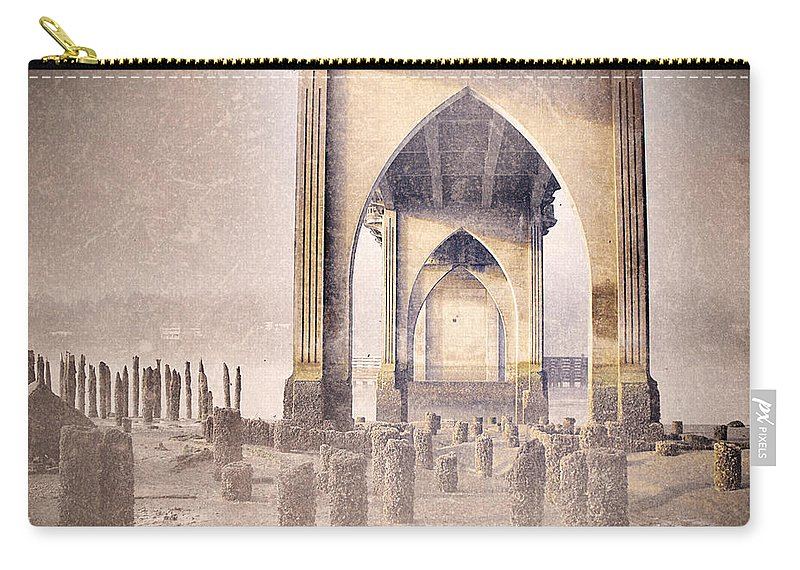 Bridge Carry-all Pouch featuring the photograph The Bridge On The Day I Left 2 by Tara Turner