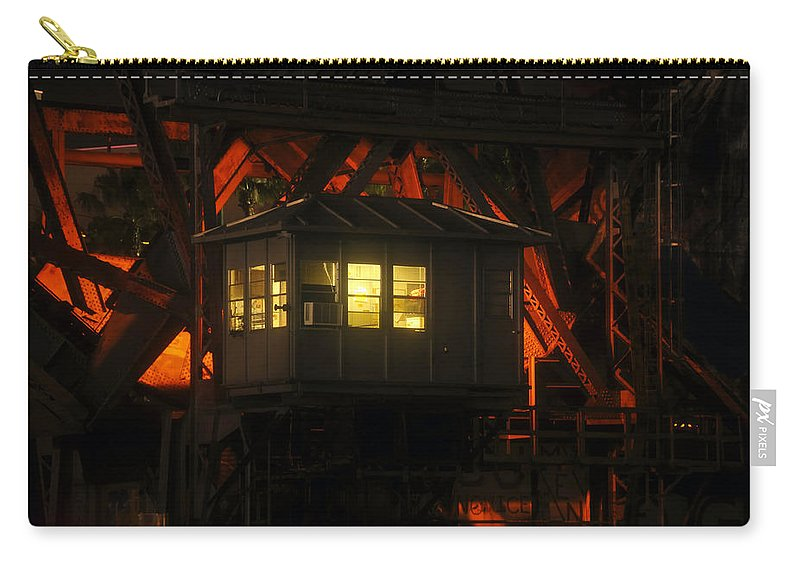 Bridge Carry-all Pouch featuring the photograph The Bridge Tenders House by David Lee Thompson