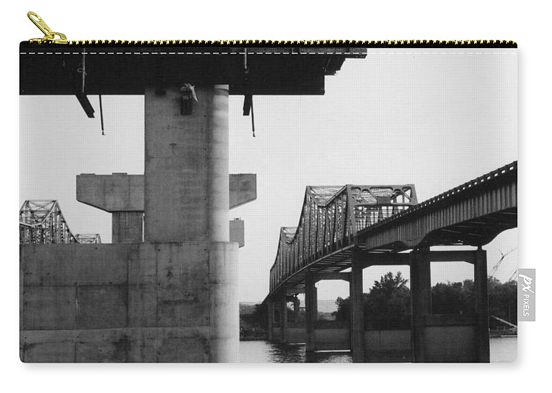 Bridges Carry-all Pouch featuring the photograph The Bridges At Whitesburg 3 by Timothy Smith