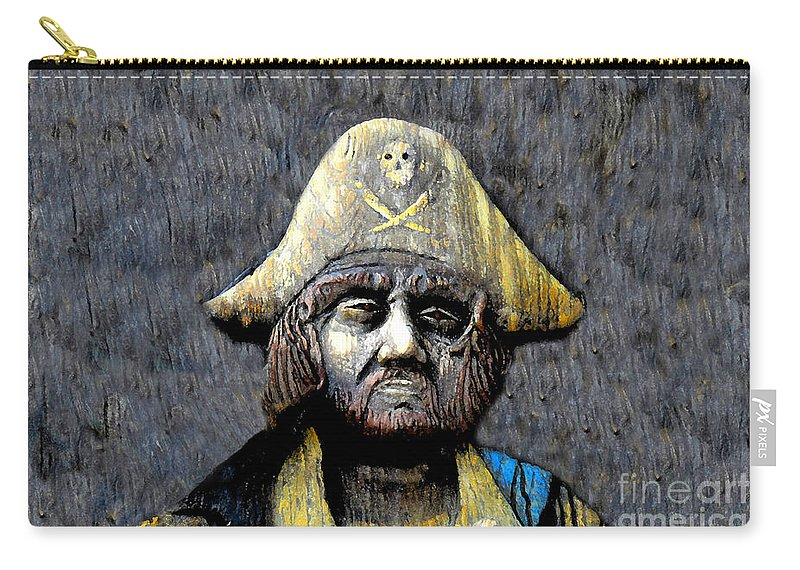 Buccaneer Carry-all Pouch featuring the painting The Buccaneer by David Lee Thompson