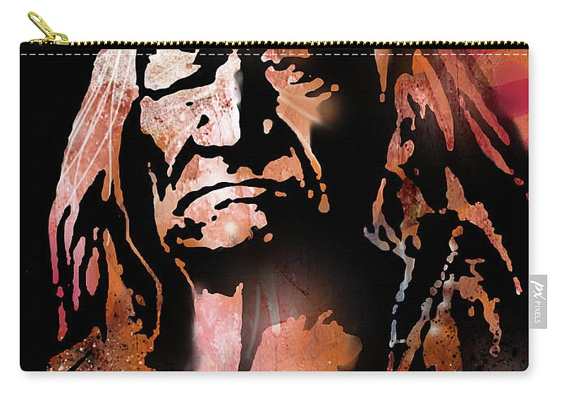 Native Americans Carry-all Pouch featuring the painting The Buffalo Hunter by Paul Sachtleben