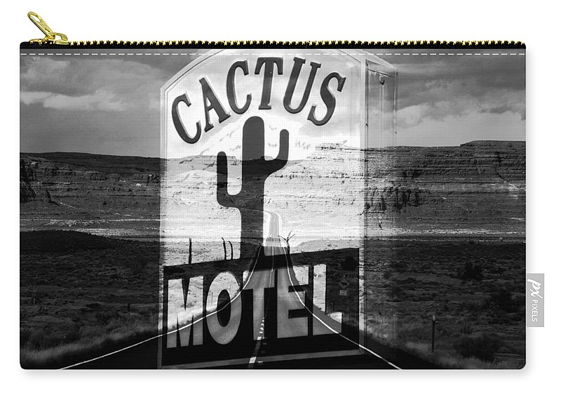 The Cactus Motel Carry-all Pouch featuring the photograph The Cactus Motel by David Lee Thompson