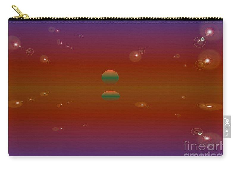 Landscape Of Calmness Carry-all Pouch featuring the digital art The Calm by Jeffrey Peltier