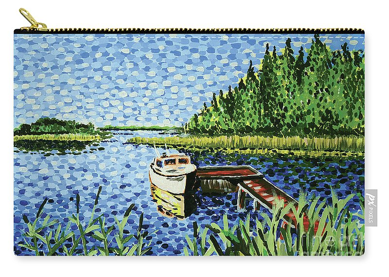 Hogan Carry-all Pouch featuring the painting The Calypso by Alan Hogan
