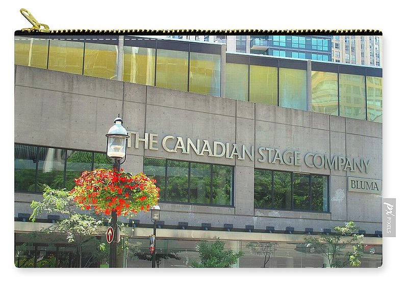 Canada Carry-all Pouch featuring the photograph The Canadian Stage Company by Ian MacDonald