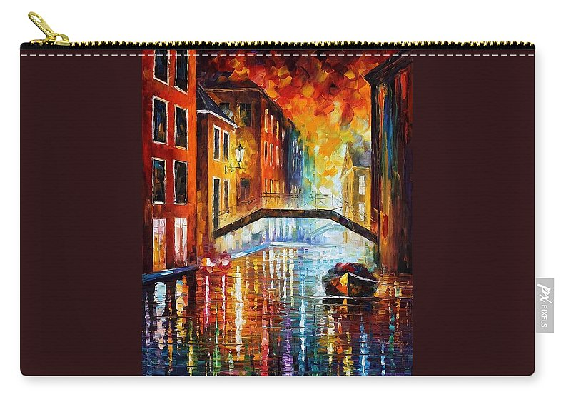 Afremov Carry-all Pouch featuring the painting The Canals Of Venice by Leonid Afremov
