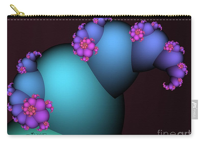 Fractal Carry-all Pouch featuring the digital art The Candy Plant by Jutta Maria Pusl